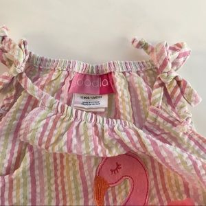 Good Lad Matching Sets - Good Lad baby girl's flamingo outfit
